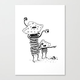 Over there! WhOops... Canvas Print