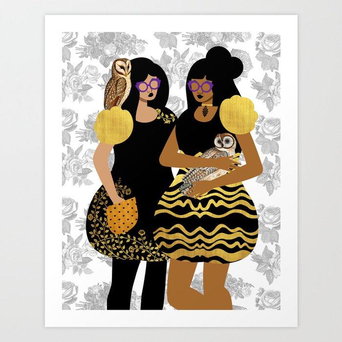 Goth Girls Kunstdrucke
