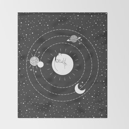 The Space Cat Throw Blanket