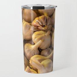 Group of unpeeled garlic. Travel Mug