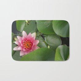 Lotus Flowe_pink1 Bath Mat