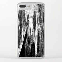 Neon tunnels - Black and white Clear iPhone Case