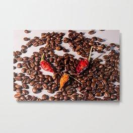 Chili Coffee Metal Print