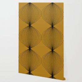Geometric Orb Pattern V Golden Yellow Wallpaper