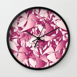 Pattern pink 4 Wall Clock