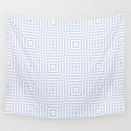 New pale blue-gray plaid Wall Tapestry