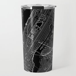 New York City Black Map Travel Mug