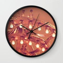 Bronze Chandelier Wall Clock