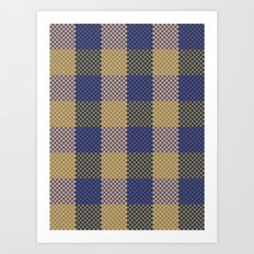 Pixel Plaid - Spring Thaw Art Print