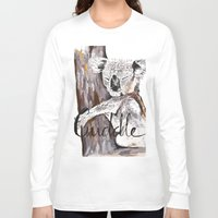 cuddle Long Sleeve T-shirts featuring koala cuddle by Katy Lloyd