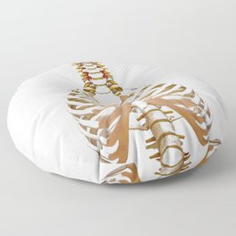 Rib Cage (Color) Floor Pillow