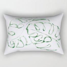 Monstera Leaves 2 Rectangular Pillow