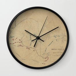 Battle of Bull Run 1861 Wall Clock