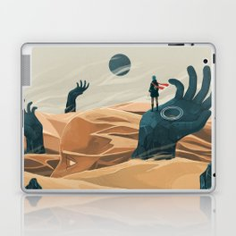 The wanderer and the desert portals Laptop & iPad Skin