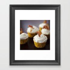 Bacon Maple Cupcake Framed Art Print
