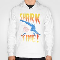 shark Hoodies featuring Shark by Silver Larrosa