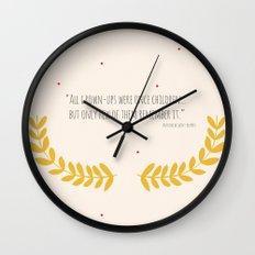 All grown-ups were once children... Wall Clock