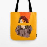 carmilla Tote Bags featuring laura hollis by Ana Rocha