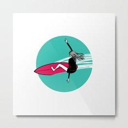 Surfer Girl 2 Metal Print