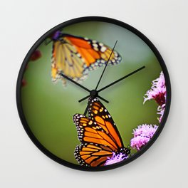 Butterfly Royalty Wall Clock