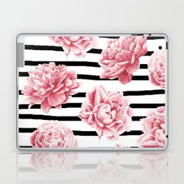 Simply Drawn Stripes and Roses Laptop & iPad Skin