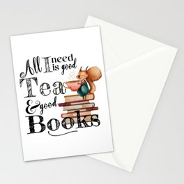 Tea & Books Stationery Cards
