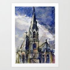 Church of Aachen Art Print