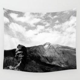 Teide in black Wall Tapestry