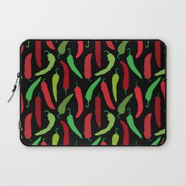 New Mexico Christmas Hatch Chiles in Black Laptop Sleeve