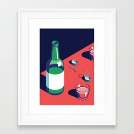 A night out in Seoul - Part 2 - Soju Time Framed Art Print