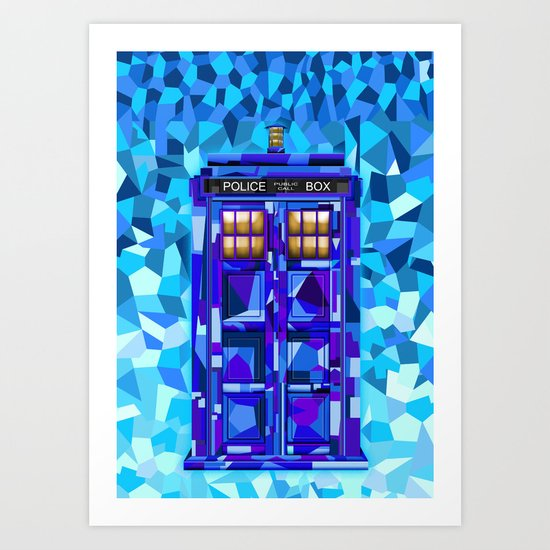 Phone booth Tardis doctor who cubic art iPhone 4 4s 5 5c 6, pillow case, mugs and tshirt Art Print