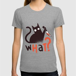 Murder Cat Funny  T-shirt