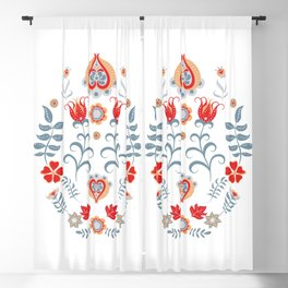 Hygge Scandinavian Folk Art Blackout Curtain