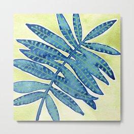 Blue Fern Metal Print