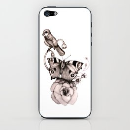Spring, Birds and Flowers. iPhone Skin