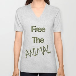 FREE THE ANIMAL - PAVÃO Unisex V-Neck