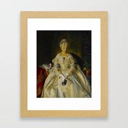 "George Wesley Bellows ""Mrs. T. in Cream Silk, No.2"" Framed Art Print"