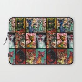 9 Zombie Cats version 2 Laptop Sleeve