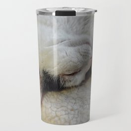 Cute Kitty Snoozes Softly Travel Mug