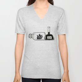 Ship in a Bottle - Hunting Rum Unisex V-Neck