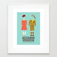 Framed Art Prints featuring Moonrise Kingdom Poster by girlviolence