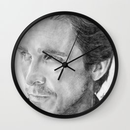 Christian Bale Traditional Portrait Print Wall Clock