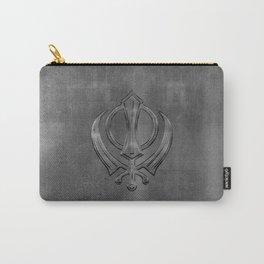 Metallic Embossed Khanda symbol Carry-All Pouch