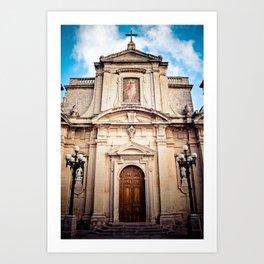 Mdina Cathedral in Matla Art Print