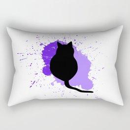 Cat Paint Splash Rectangular Pillow