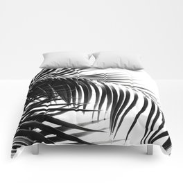 Palm Leaves Black & White Vibes #3 #tropical #decor #art #society6 Comforters