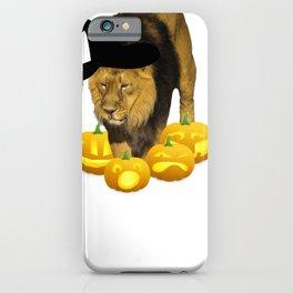 Halloween Lion Witch Hat Jackolanterns iPhone Case
