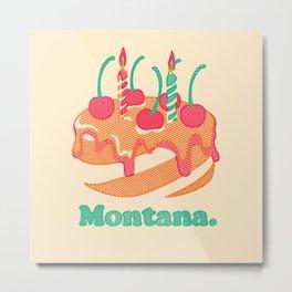 Montana Cake Metal Print