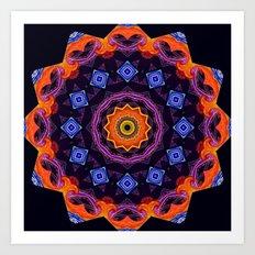 Complex Mandala Art Print