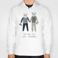 toddler Hoodies featuring You are the Cat's Pajamas by Yuliya